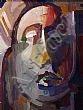 Evie Hone, HRHA - MADONNA, Oil on Board,22 x 17