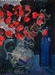 Brian Ballard, RUA - POPPIES & BLUE BOTTLE, Oil on