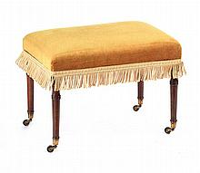 GEORGIAN UPHOLSTERED STOOL
