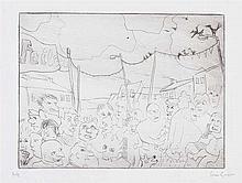Ian Gordon - FAIR DAY, SAINTFIELD - Limited Edition Black & White Lithograp