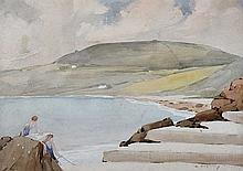 James Stanley Prosser, RUA - THE BATHING PLACE, ISLANDMAGEE - Watercolour D