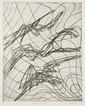 HAYTER Stanley William, 1901-1988 Chauve-Souris, 1963 Eau-forte en noir n°31/ 50, signée et datée en bas à droite, titrée en bas a...