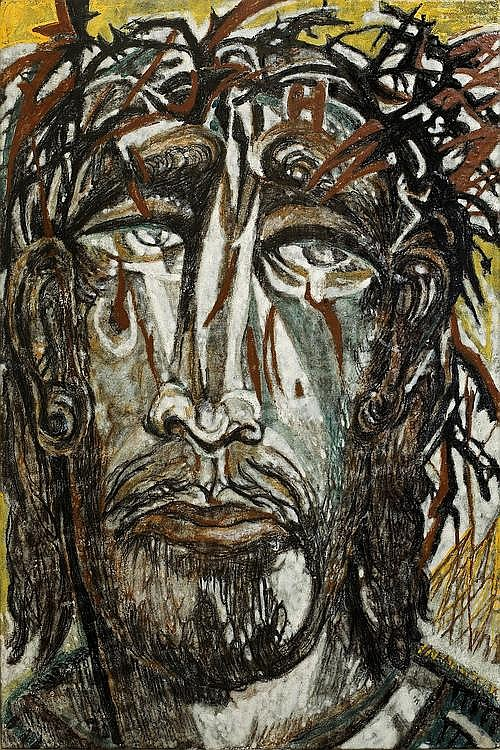 HENRI DE WAROQUIER EMAIL PEINT JESUS EST