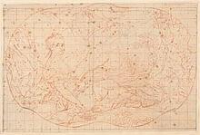 NATTIER Jean-Marc (D'après) (1685-1766) 1- Marie Adélaïde de France, fille du roi Louis XV, sous la figure de Diane Pierre noire et sanguine. Mise aux carreaux. Filet d'encadrement à la pierre noire. Format chantourné. Collé sur feuille