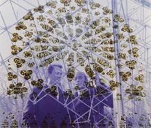 Marc LACROIX La rosace de Dali tirage photographique couleurs (petites traces de plis), signé en bas à droite sur le montage, cach...