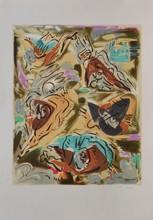 d'après André MASSON Composition lithographie en couleurs, en bas à droite : andré Masson, en bas à gauche : EA, 75 x 53 cm.