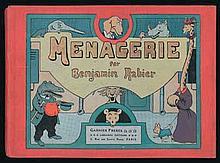 RABIER - Ménagerie - Album à l'italienne, album en bel état...