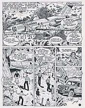 JARRY - Planche originale de Barroudeurs n° 4 : Raid sur Bogota...