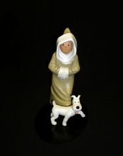 HERGE (Hergé) - Tintin - Statuette en résine de Tintin et Milou oriental...