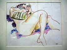 CLUSEAU-LANAUVE Jean, 1914-1997 Nu Dessin au