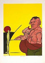 ADAMI Valerio 1935-   Lithographie signée en bas à droite. Numérotée 19/150 - 86 x 59 cm