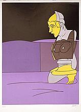 ADAMI Valerio 1935-   Lithographie originale.