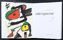 MIRO Joan 1893-1983   Catalogue de l'aeuvre gravé Daniel Lelong Editeur. Contient deux bois gravés originaux, la couverture est une lithographie. Volume II Exemplaire 1571/2000. Livre neuf