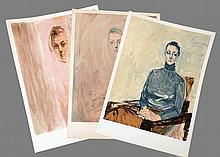 ASSAR Nasser 1928-2011 Lot de 3 lithographies signées et numérotées sur 110 - 76 x 54 cm