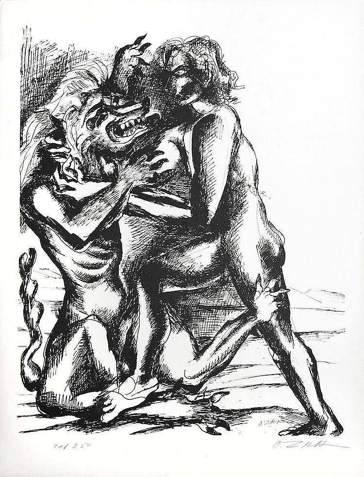 ZADKINE Ossip 1890-1967   Lithographie signée et numérotée 91/350 - 69 x 53 cm