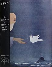 BENN - Bençion RABINOWICZ dit 1905-1989   62 Psaumes et versets de la Bible (préface de Jules Romains). Chatenay-Malabry Lefort s.d. (1960)    in folio sous couverture et emboîtage    Bel exemplaire.