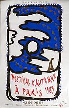 ALECHINSKY Pierre 1927-   Affiche en sérigraphie