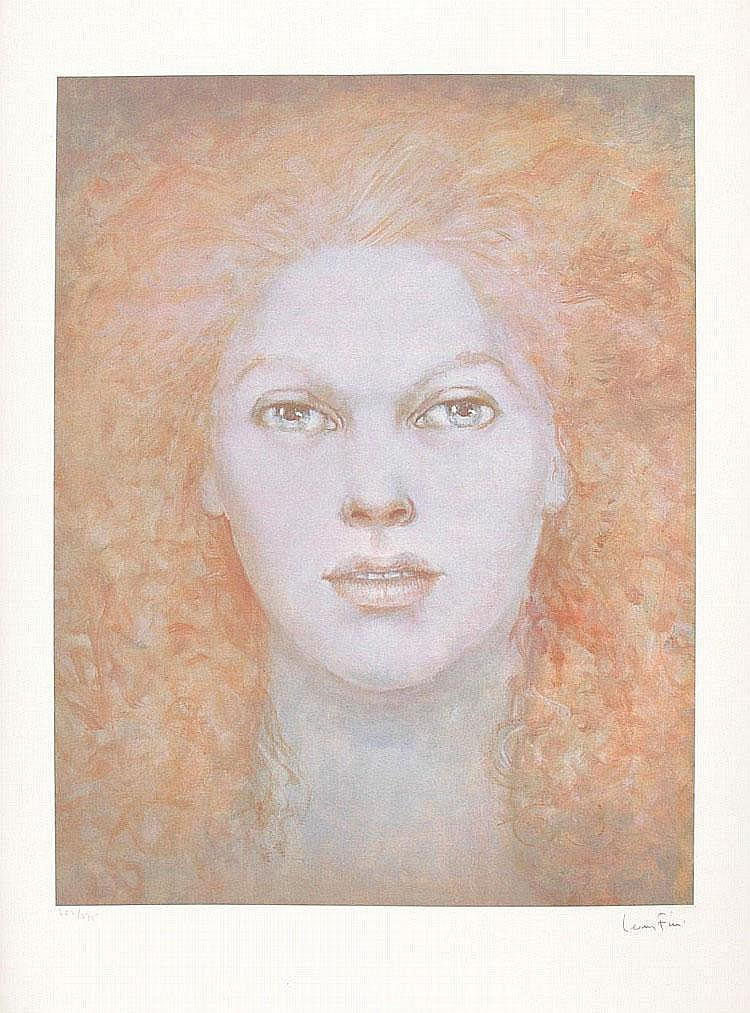 Leonor FINI Face Lithography color n° 252 / 275, signed lower-right. 61 x 47 cm.