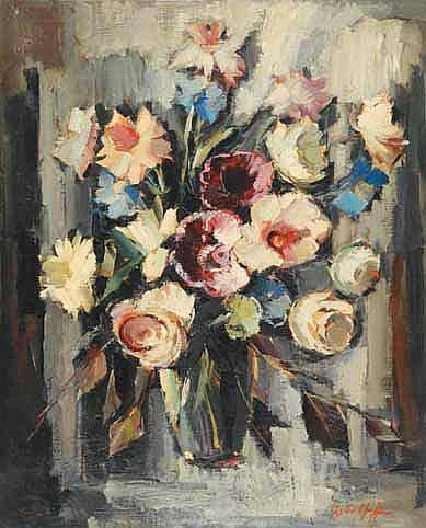 Boris PASTOUKHOFF Grand bouquet, Paris Huile sur