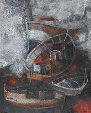 Sunol Munoz Ramos ALVAR Barques,1965 Huile sur