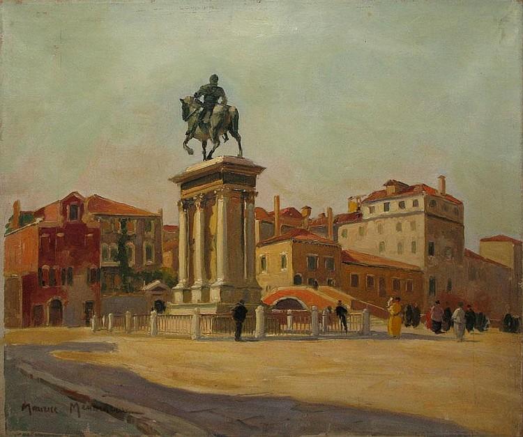 MÉNARDEAU Maurice, 1897 - 1977 - Square in Venise, 1930