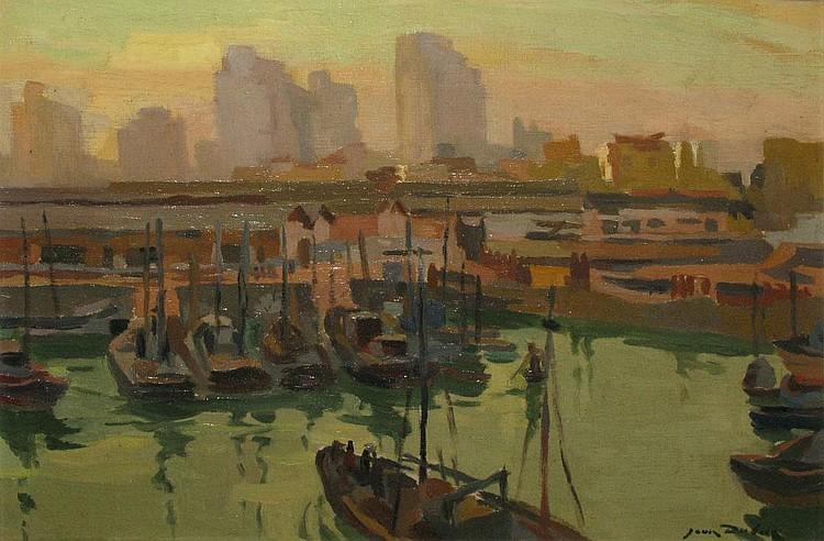 DULAC Jean, 1902 - 1968 - Le port de pêche de Casablanca
