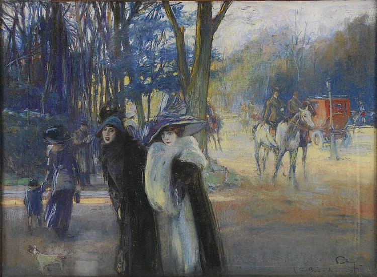 FORTUNEY Louis, 1878 - 1950 - Promenade au bois, 1914