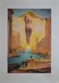 DALI Salvador, 1904 -1989 Gala à la Toison d'Or lithographie en couleurs n° 113 / 300, signée en bas à droite. 58,5 x 40,5 cm.