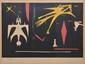 LAM Wilfredo, 1902 -1982 Composition aux figures fantastiques, 1953 lithographie en couleurs n° 69 / 100 (inso¬lation), signée et datée en bas à droite. 37 x 54 cm.