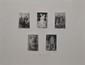 SORIANO Juan, 1920 - 2006 Scènes macabres, 1984 Cinq eaux-fortes sur la même feuille, n° 2 / 50 , signée et datée en bas à droite avec envoi. Eau-forte : 11,5 x 7,5 cm chaque. Feuille : 49 x 64,5 cm.