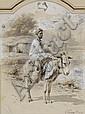 Paul Dominique Philippoteaux Orientalist painting, muslim donkey-driver - Ânier oriental