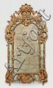 Miroir à parcloses en bois sculpté, stuqué et doré à décor de larges coquilles, agrafes et rinceaux dans le goût rocaille. Style Louis XV. XIXe siècle. (quelques accidents et manques, renfort moderne au dos). Voir la reproduction ci-dessus.
