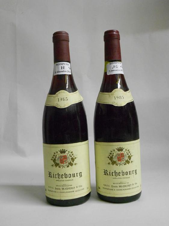 2 bouteilles  RICHEBOURG, D. Mugneret  1985
