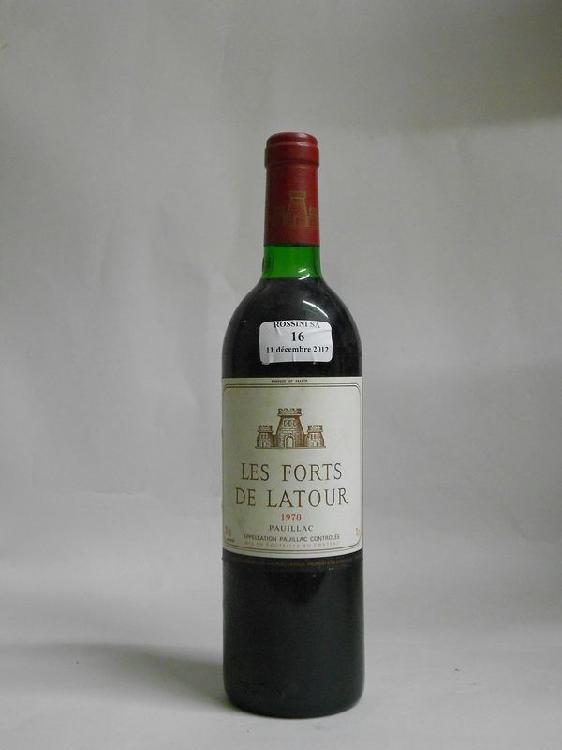 1 bouteille  LES FORTS DE LATOUR, Pauillac   1978