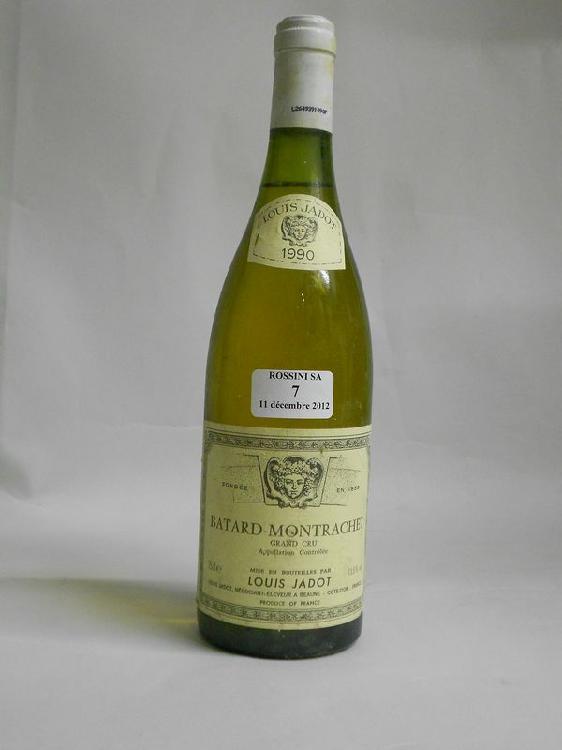 1 bouteille  BÂTARD-MONTRACHET, L. Jadot  1990  ( J)