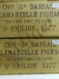 Château Grand Barrail Lamarzelle Figeac 1977 2 caisses bois de 12 bouteilles