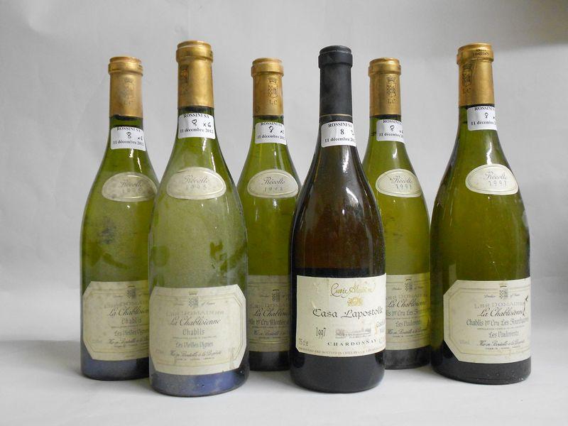 Ensemble de 6 bouteilles: 2 bouteilles CHABLIS