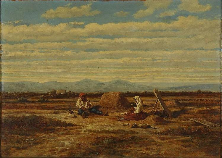 Oil on panel by Émile LOUBON.