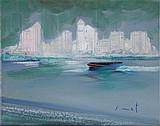 oil on canvas by René SMET