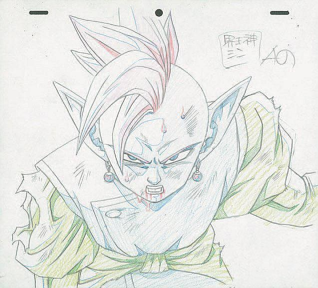 Dragon Ball Z From Akira Toriyama Studios Toei Original Cartoon Drawing Format 23 X 26 5 Cm Two Other Drawings From The Same Sequence Are Added