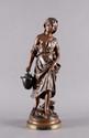 Auguste MOREAU   Cosette  bronze à patine brune (usures), sur la terrasse : aug. moreau et cachet Société des Bronzes de Paris,  Ht. : 50 cm.