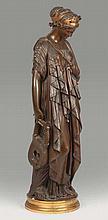 Jean-Baptiste CLESINGER - Sapho debout - bronze à deux patines brune.