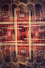 Olivier DASSAULT - Façade rouge au 310 - photographie en couleurs...