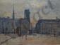 MADELAIN Gustave, 1867-1944 L'île de la Cité, 1922 huile sur toile (craquelures), signée et datée en bas à gauche, 54 x 73 cm.