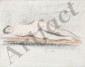 PUY Jean, 1876 -1960 Nu couché, février 1912 dessin à la sanguine et à la pierre noire (traces de plis), signé et daté en bas à droite,  26,5 x 34 cm.