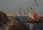 RINALDI R. U., XXe siècle Pêcheurs sur la côte huile sur isorel, signé en bas à gauche,  16 x 21,5 cm.