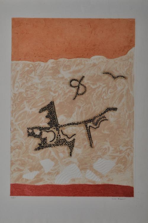 PAPART Max, 1911-1994 Sans titre gravure au carborundum, n°10 / 50, signée en bas à droite, 59,5 x 42,5 cm.