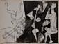 PICASSO Pablo, 1881-1973 Femmes et faunes, 1956 suite de douze procédés Jacomet dans leur carton d'origine orné par l'artiste, exemplaire HC, n° L, édition Au Vent d'Arles, Paris 1956, imprimé spécialement pour Ernst Maget (traces d'insolation et
