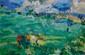 BRAUDEY Paul, né en 1930 Golfeurs à Saint Briac huile sur toile, signée en bas à gauche,  65 x 100 cm.