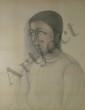 CARZOU Jean, 1907 - 2000 Hélène, 1979 dessin aux crayons de couleurs, signé et daté en bas à gauche,  65 x 50 cm.